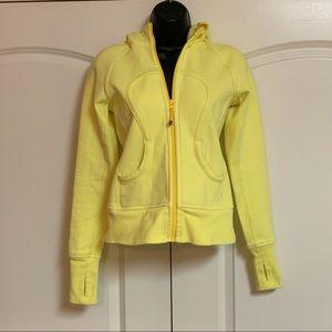 Lululemon Yellow Cotton Full Zip Hoodie Jacket 4